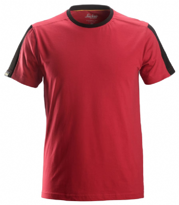 Snickers 2518 AllroundWork T-Shirt (Chili Red / Black)